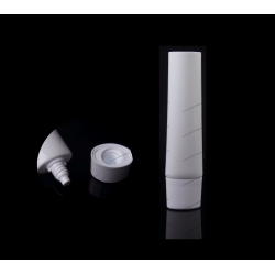 """30mm (1 3/16"""") Plastic Oval Tube with Dual-Layer Cap"""