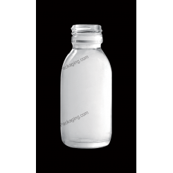 90ml Clear Glass Bottle for Syrup