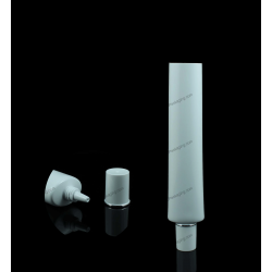 """25mm (1"""") Plastic Oval Tube with Cylindrical Dual Cap"""
