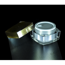 50g square acrylic cream jar for cosmetics packaging