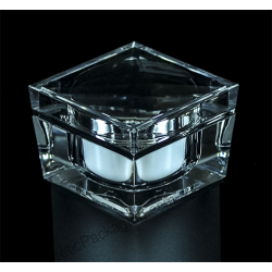 100g square acrylic cream jar for cosmetics packaging