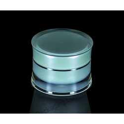 50g Slanted Acrylic Jar for Cosmetic Cream Packaging