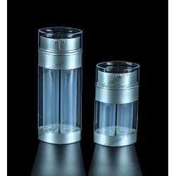Two Airless Plastic Bottle for Cosmetics Packaging