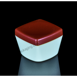 80ml Square Plastic PP Jar for Cosmetics Packaging