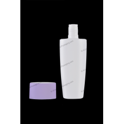 100ml Plastic HDPE Flat Bottle for Cosmetics Packaging