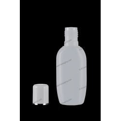 30ml 1oz Plastic HDPE Bottle with Screw On Cap for Cosmetics Packaging