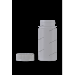 180ml 6oz Plastic HDPE Bottle with Ribbed Screw On Cap