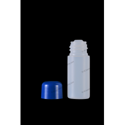 15ml Plastic HDPE Bottle with Orifice Reducer and Screw On Cap for Cosmetics Packaging