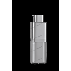 15ml Square Rotary Acrylic Airless Bottle for Cosmetics Packaging
